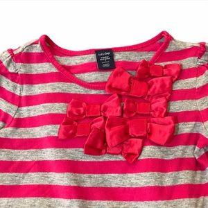 🧚♀4/$25 BABYGAP Girls Long Sleeve Shirt w Bows